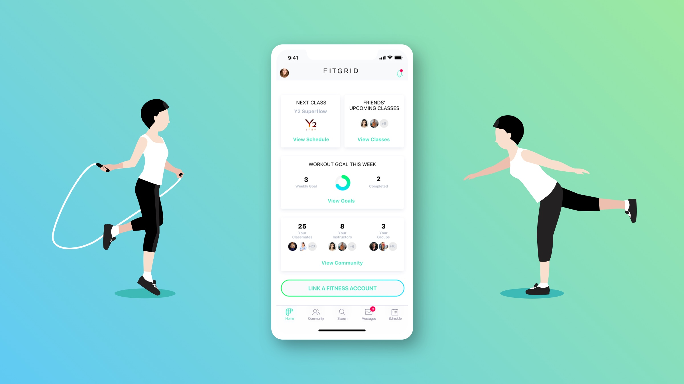 FitGrid Pro is the fitness app to boost communication.