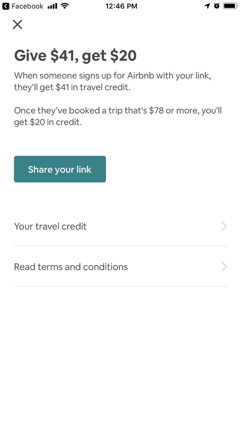 20$ Bonus via Airbnb invite codes.